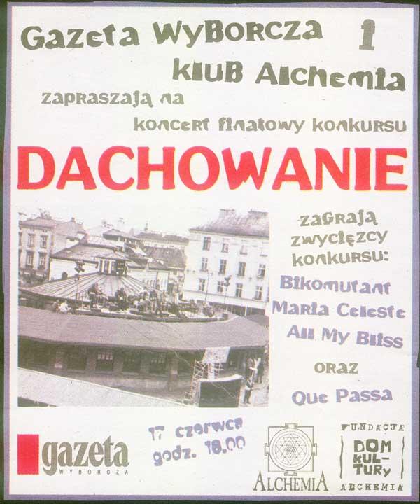 """Plakat z """" Dachowania"""" z 2006 roku"""